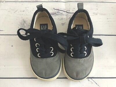 EU 26 Gray GAP Baby Blue Lace-Up Sneakers Shoes Toddler Boy NWT Size US 9