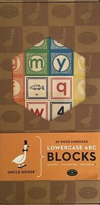 Uncle Goose Classic Lowercase ABC Wooden Blocks Handmade In USA