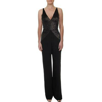 Dress The Population Womens Joey Sequined Plunge Wide Leg Jumpsuit BHFO 1783