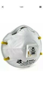 3M 8210 N95 Particulate Respirator W/Exhalation Valve mask, 1pc only made in USA