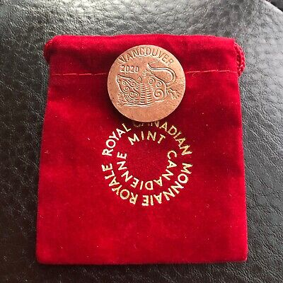 2020 VANCOUVER**RARE**YEAR OF THE RAT COPPER TOKEN**L@@K**Combined Shipping**