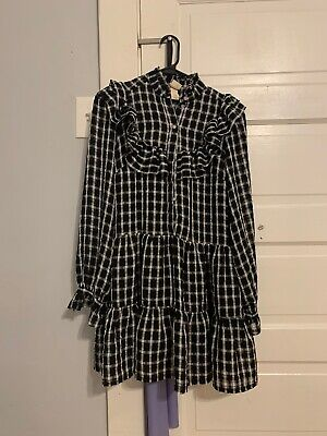 HM Doll Dress Black And White Grid