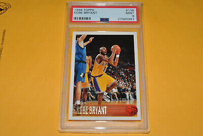 1996-97 Topps Kobe Bryant RC #138 PSA 9 Mint  Los Angeles Lakers  HOT CARD!!