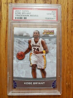 2007 Topps Kobe Bryant Trademark Moves Graded Psa Gem Mint