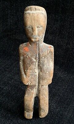 Columbian Standing Figure ~ Hand Carved Wood