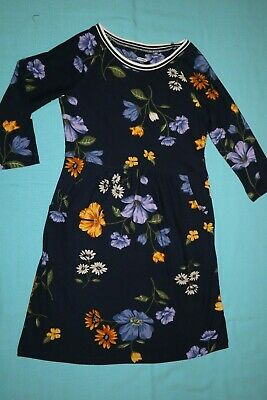 Brand New Old Navy Girls 3/4 Sleeve Navy Floral Dress Size S (6-7)