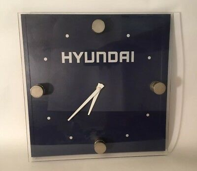 DCI Marketing Hyundai Dealer Blue 3D Wall Clock Acrylic Face 12x12x1.25""