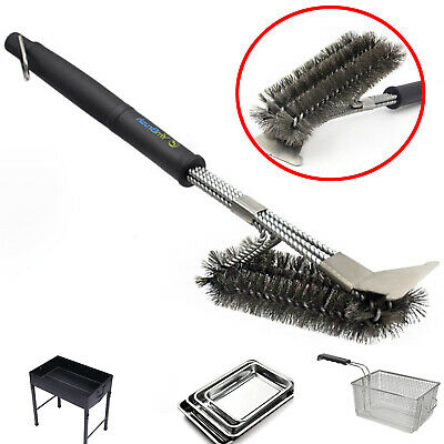 PACK OF 2 BARBECUE BBQ GRILL METAL WIRE CLEANING BRUSH SCRAPER REMOVER 81142X2