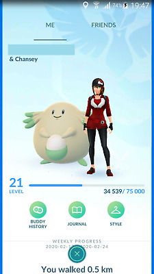 Pokemon Go Account with Shiny Chansey tradable