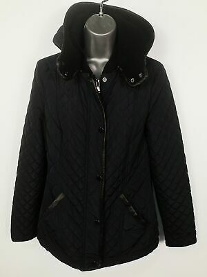 Womens Next Navy Blue Quilted Lightly Padded Fitted Casual Jacket Coat Size Uk 8