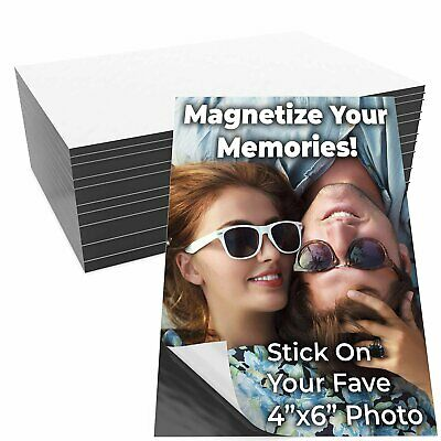 Magnetize Memories with 4x6in Adhesive Photo Magnets