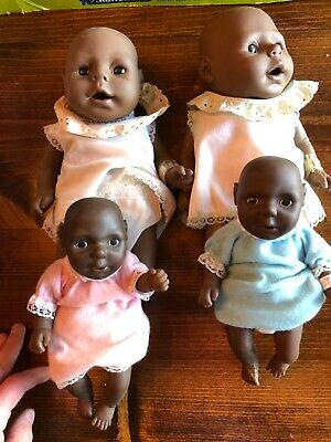 "Anatomically correct African American Dolls, 2-15"" male & Female, 2-8"" M & F"