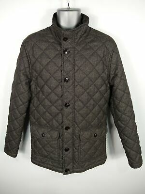 Mens Next Grey Mix Zip/Button Up Padded Winter Quilted Jacket Coat Size M Medium