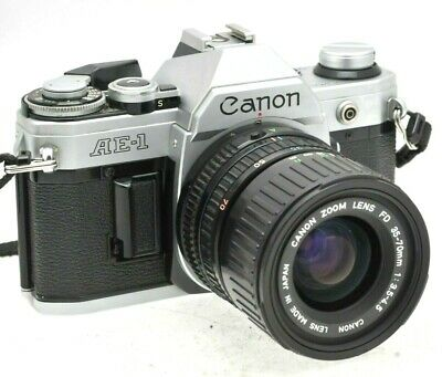 Canon AE-1  35mm SLR film camera with Canon 35-70mm Zoom lens - New Battery