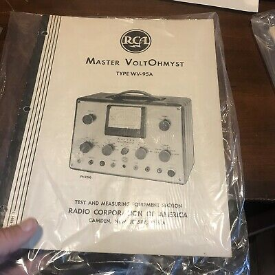 Vtg Instruction Manual Book RCA MASTER VOLT OHMYST TYPE WV-95A