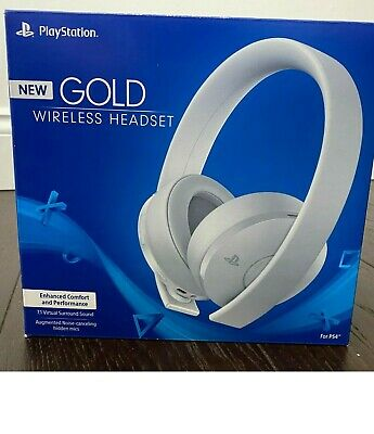 Sony Playstation 4 Official Gold Wireless Headset - White Edition