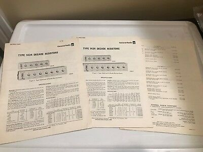 VTG Book Instruction Manual GENERAL RADIO GR TYPE 1434 DECADE RESISTORS LOT SET