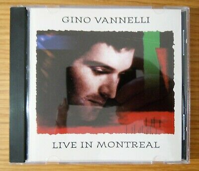Gino Vannelli: Live In Montreal - (CD, 1991, Vie) NEAR MINT, TESTED
