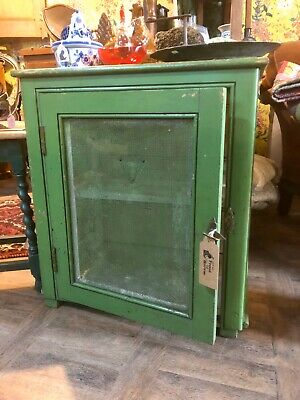 Vintage Cheese Cabinet With Screened Front And Sides