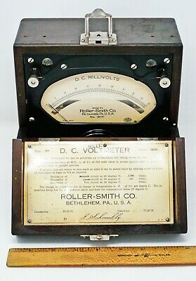 Roller-Smith Type NP DC Millivolts Volt Meter 50 Millivolts Full Scale Vintage