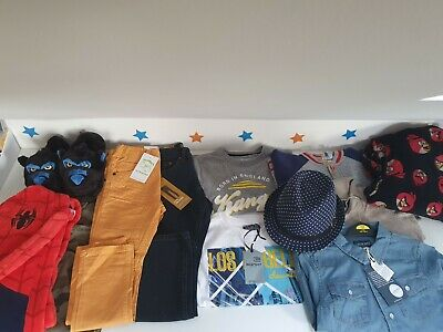 Large Bundle of Boys Clothes 6-7 and 7-8 - Some Brand New! Jeans/T Shirts/Shirt