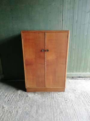 Art Deco 1940's light oak Compactum / wardrobe Tallboy