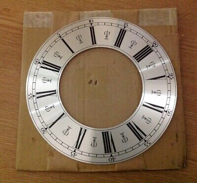 Vintage Vienna Clock Style Dial Face 184mm NOS Metal Ex Clockmakers Spare Parts