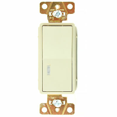 Pass & Seymour 2629-I 1P Lighted Decorator Switch, 20A, 120V, Ivory