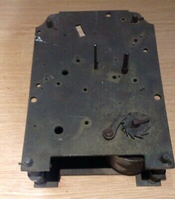 ANTIQUE FUSEE CLOCK MOVEMENT 130x160mm PLATES