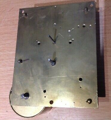 ANTIQUE FUSEE CLOCK MOVEMENT 115x143mm PLATES