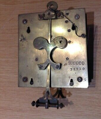 ANTIQUE TWO TRAIN GERMAN VIENNA CLOCK MOVEMENT 100x100mm PLATES