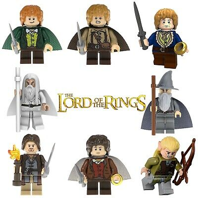 Lord of the Rings Custom Lego Building Mini Figures Gandalf Frodo Aragorn LOTR