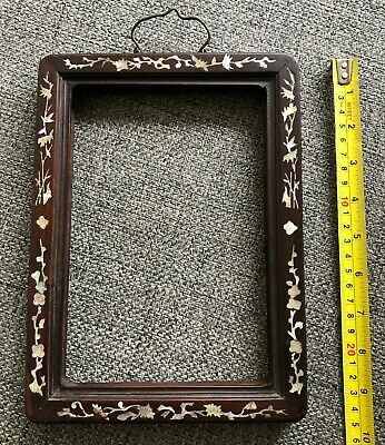 Antique Chinese Mother Of Pearl Mirror / Picture Frame. 19Th C.