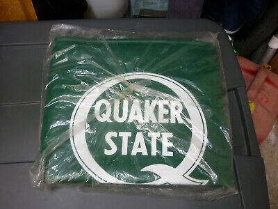 Vintage Green Quaker State Fender Cover Mat Protector Oil NOS Ford Chevy Racing