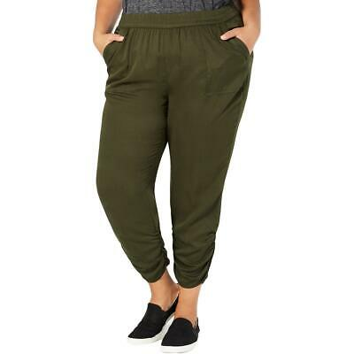 Style & Co. Womens Green Comfort Waist Mid Rise Jogger Pants Plus 18W BHFO 0507