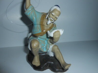 Chinese Oriental Old Man Ceramic Figure Ornament / 5* CONDITIONS