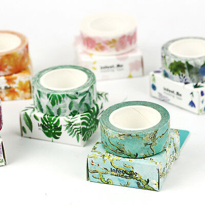 Craft Paper Washi Tape Self-Adhesive Stickers DIY Diary Album Decorative Gifts