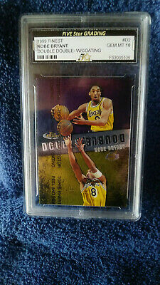 1999 Finest Double Insert Kobe Bryant Yellow Jersey Graded 10 Gem Mint Rare!
