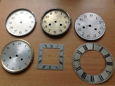 Antique Clock Dials Faces Bezels Ex Clockmakers Spare Parts
