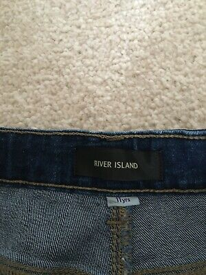 Next Boys Skinny Jeans Age 11 Charcoal In Colour.blue River Island Jeans Age 11