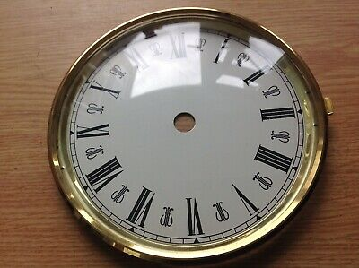 Vintage Clock Brass Bezel Door Dial Face Glass 130mm Ex Clockmakers Spare Parts