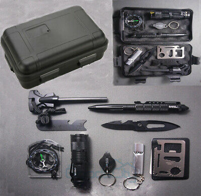 10 in 1 Professional Survival Kit Outdoor Travel Hike Field Camp Emergency Kits