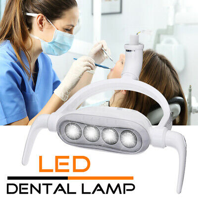 Dental Oral Light Lamp Operating Lamp 4 LED Cold Exam Light 6000K 22mm AC12V !