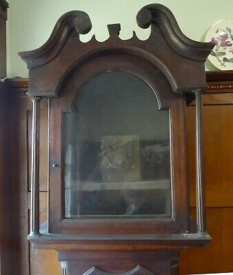 Grandfather clock - long case - in need of attention - alternative faces