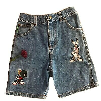 vintage looney tunes Kids Boys Girls Demin shorts Pants bugs bunny martin sz 7
