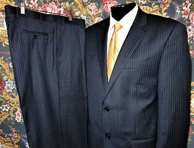 "Michael Kors Classic-Fit ""Michael"" Navy Blue Pinstripe Suit 42L"