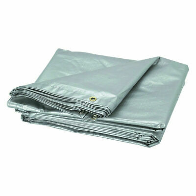 6 x 10m Professional Tarpaulin Strong Heavy Duty Waterproof Cover Roof Silver