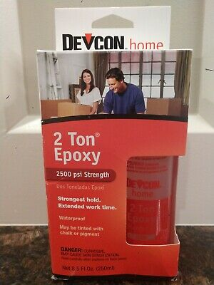 DEVCON home 2 TON EPOXY 2500 psi Strength 8.5 FL.oz.( 250 ml).