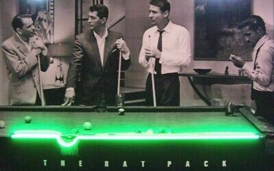 Rat Pack Shoot Pool Led Picture Sign Frank Sinatra Dean Martin Sammy Davis Jr