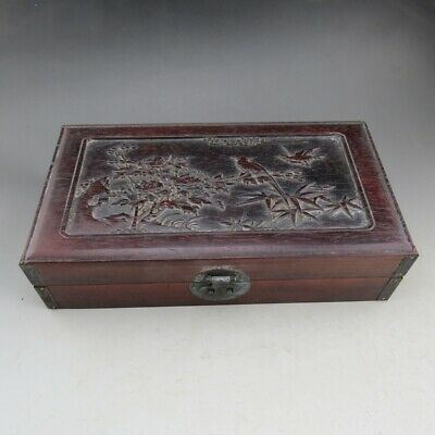 China, wood,Noble collection, auspicious,Flowers & birds, Jewelry box K3